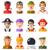 conjunto · isolado · projeto · pessoas · ícone · social - foto stock © decorwithme