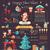 クリスマス · インフォグラフィック · デザイン · 要素 · セット · チャート - ストックフォト © decorwithme