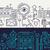 search engine app development   line design banners set stock photo © decorwithme