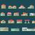 set · scena · urbana · illustrazione · cielo · casa · costruzione - foto d'archivio © decorwithme