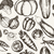 vegetables   black and white hand drawn seamless pattern stock photo © decorwithme