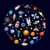 ruimte · iconen · cirkel · ontwerp · aarde · web - stockfoto © decorwithme