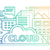 cloud storage technology   flat line design website banner stock photo © decorwithme