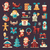 happy · new · year · ayarlamak · simgeler · Noel · çorap · soyut - stok fotoğraf © decorwithme