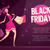 black friday flyer template with happy female shopper stock photo © decorwithme