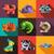 bonitinho · água · animais · ícones · coleção · isolado - foto stock © decorwithme