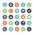 átomo · ícones · projeto · ilustração · laranja · ícone - foto stock © decorwithme