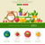 flat design fruits and vegetables website header with icons stock photo © decorwithme