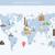 illustration · design · carte · postale · célèbre · monde · repère - photo stock © decorwithme
