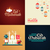 postcard templates set with islamic culture icons stock photo © decorwithme