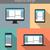 moderno · responsivo · web · design · isolado · eletrônico · dispositivos - foto stock © decorwithme