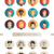 set of isolated flat design people icon avatars for social network and your design active inactive stock photo © decorwithme