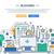 bloggen · lijn · ontwerp · website · banner · illustratie - stockfoto © decorwithme