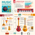 ilustration of different music insruments template flat infographic design stock photo © decorwithme