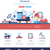 pétrolières · carburant · industrie · infographie · navire - photo stock © decorwithme