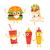 fast · food · vector · ingesteld · mascotte · illustraties - stockfoto © decorwithme