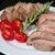 vesepecsenye · steak · rozmaring · koktélparadicsom · tányér · bor - stock fotó © dedmorozz