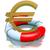 rouge · euros · symbole · blanche · signe · isolé - photo stock © dengess