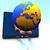 wereldbol · Europa · tablet · internationale · communicatie · business - stockfoto © dengess