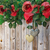 roses and a hearts on wooden board valentines day background wedding day holiday background stock photo © denisgo