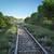 railway track crossing rural landscape travel concept stock photo © denisgo