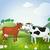 dois · vacas · animal · fazenda - foto stock © denisgo
