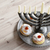 hanukkah background with candles, donuts, spinning top stock photo © denisgo
