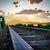 spoorweg · track · reizen · wolken · Blauw - stockfoto © denisgo
