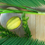 symbols of the jewish holiday sukkot with palm leaves and glass wine 3d illustration stock photo © denisgo