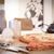 全体 · トマト · キッチン · ナイフ · 赤 · 木製 - ストックフォト © denisgo