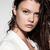 bastante · morena · longo · cabelos · lisos · senhora · moda - foto stock © denismart