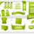 Bundle of Green Web Elements stock photo © Designer_things