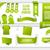 Bundle of Green Web Elements stock photo © Designer_things