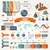 vetor · mundo · infográficos · conjunto · 3D · mapa · do · mundo - foto stock © designer_things