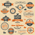 vecteur · rétro · vintage · timbres · vieux · papier - photo stock © designer_things