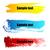 塗料 · スプラッシュ · バナー · グランジ · デザイン · 要素 - ストックフォト © designer_things