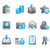 blue glossy icon set stock photo © designer_things