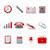 zwarte · multimedia · tools · icon · ontwerp · teken - stockfoto © designer_things