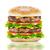 groot · hamburger · kaas · ham · zwarte · glas - stockfoto © designsstock