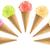 sorvete · conjunto · colorido · casquinha · de · sorvete · branco - foto stock © designsstock
