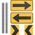amarillo · dirección · signo · aislado · blanco - foto stock © designsstock