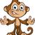 majom · karakter · rajz · illusztráció · szafari · aranyos - stock fotó © DesignWolf