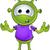 pequeno · verde · alienígena · desenho · animado · ilustração · bonitinho - foto stock © DesignWolf