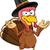 Turquia · mascote · confuso · desenho · animado · ilustração · ação · de · graças - foto stock © DesignWolf