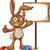 коричневый · Пасху · кролик · характер · Cartoon · иллюстрация - Сток-фото © DesignWolf