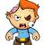zombi · fiú · karakter · rajz · illusztráció · agy - stock fotó © DesignWolf