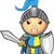 kék · citromsárga · lovag · karakter · aranyos · középkori - stock fotó © DesignWolf