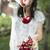 jeune · femme · fille · cerises · jardin · arbre - photo stock © deyangeorgiev