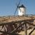witte · oude · windmolen · blauwe · hemel · gebouw · landschap - stockfoto © deyangeorgiev