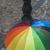 tradicional · amarelo · sol · guarda-chuva · praia · pôr · do · sol - foto stock © deyangeorgiev